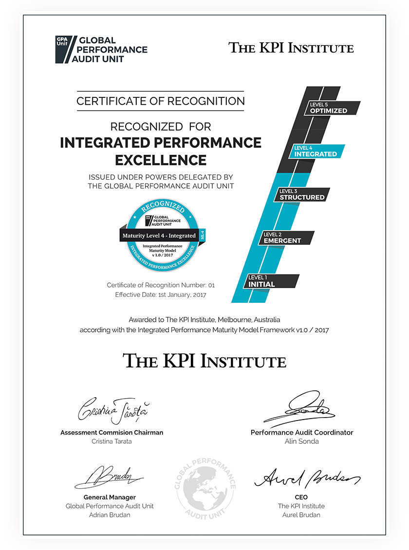 Plus A Certificate Of Recognition For The Integrated Performance  Excellence Of All Practice Domains Assessed Get Your Certificate Of  Recognition