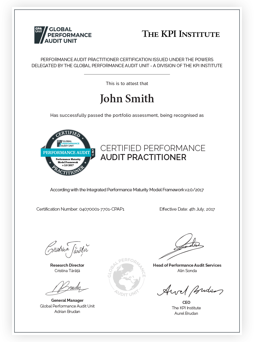 Performance audit certification gpa unit as a practitioner you can conduct audits present your findings and provide recommendations for performance improvement the assessed organizations will 1betcityfo Gallery
